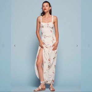 Reformation Cam White Maxi Dress Floral Size 2